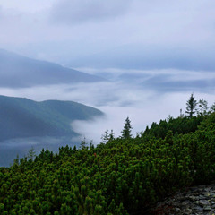 Хребты и долины карпатских гор