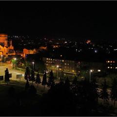 Фрагмент ночного Ужгорода