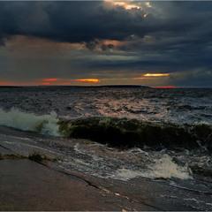 Волнение на закате