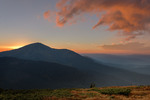 """""""про те, як Петрос спати збирався"""" - захід сонця над г. Петрос, вид із полонини Гропа..."""