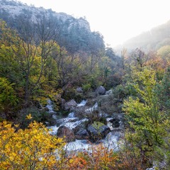 Утро в Чернореченском каньоне