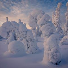 Снежные фигуры Паанаярви