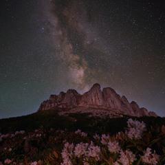 Млечный Путь и рододендроны вокруг Ачешбока