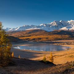 Панорама озера Джангысколь