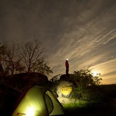 Восход луны над нашим лагерем