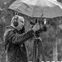 Lone operator in the rain