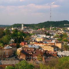 Панорама Львова із оглядового колеса