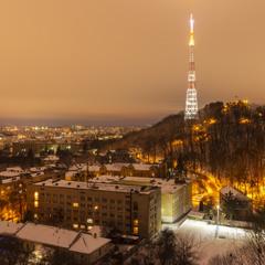 Вигляд на Львів із гори Лева
