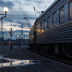 Вечір на львівському вокзалі