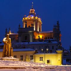Собор святого Юра взимку