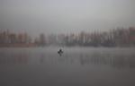 Клубочуться тумани над водою