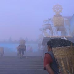 Утренний туман..такая работа..
