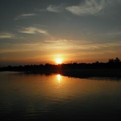 """Закат на озере """"Соленое"""""""