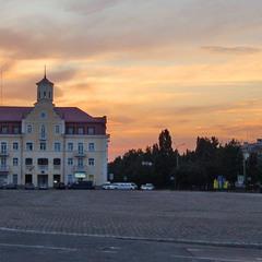 Чернигов. Красная площадь. Закат