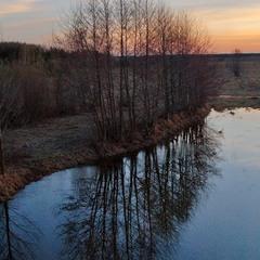 Деревья смотрят в зеркала озер и рек...