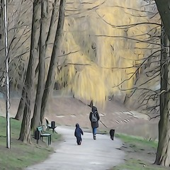 ...прогулка в парке..