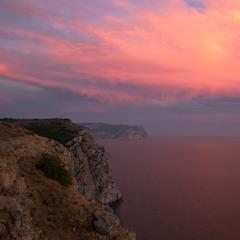 Закат на Фиоленте. Караньское плато.