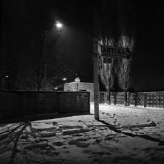 """Ночь, улица, фонарь, аптека..."" Сніг.."