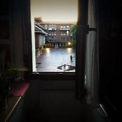 Люблю спостерігати в вікні  життя нашого двору