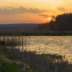 Закат на святошинских прудах..