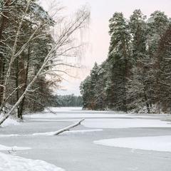 Уснуло озеро, безмолвен лес..
