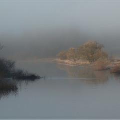 Зимние туманы на реке