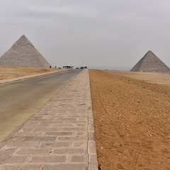 The road to the pyramids
