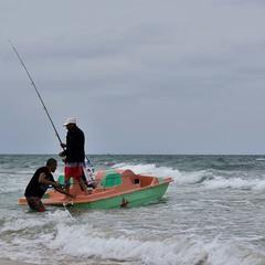 Шторм рыбалке — не помеха