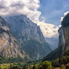 В долине водопадов Лаутербруннен