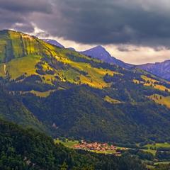 Вечер в Швейцарских Альпах