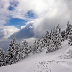 Зима в Трансільванських Альпах