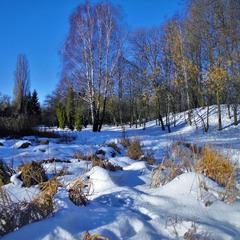 Бело-голубая зима.