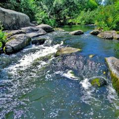 Вода и камни.