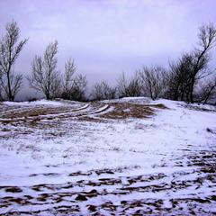 Это был живописный уголок с холмом.