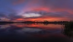 Шикарнючий захід сонця. Панорама