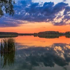 Кольоровий захід сонця