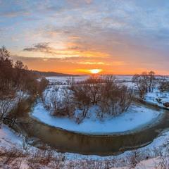 Захід сонця на Високому березі