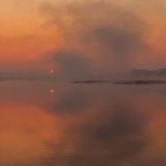 Світанок з туманом.