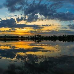 Захід сонця. Панорама