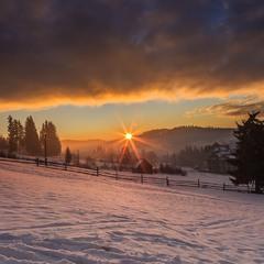 Схід сонця в Буковелі