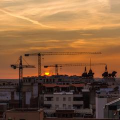 Захід сонця. Мадрид.