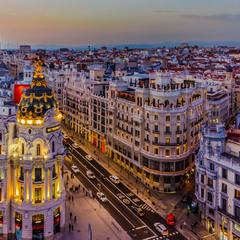 Вечерний Мадрид.