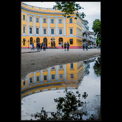 Одесса, Приморский б-р, сразу после дождя..