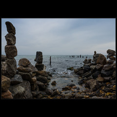 Пляж камней