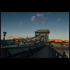 Мост Сечени в ранний час (Будапешт)