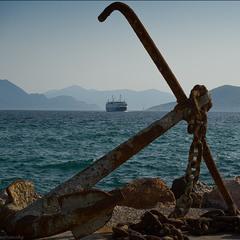 Вид с пирса о.Эгина (Греция)