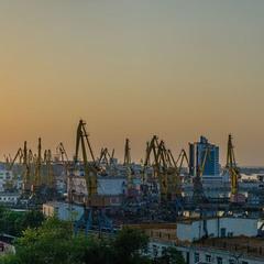 Портовый город (панорама)