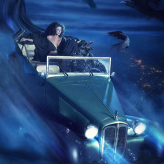 «..но только вскоре Маргарита, открыв глаза, увидела под собой не лесную тьму, а дрожащее озеро мос