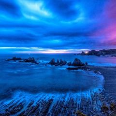 Рассвет на Бискайском побережье