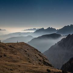 Вечер в Альпах